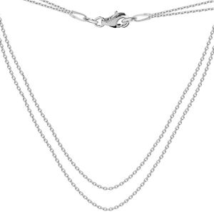 Base for necklaces, sterling silver 925, S-CHAIN 16 (A 030)