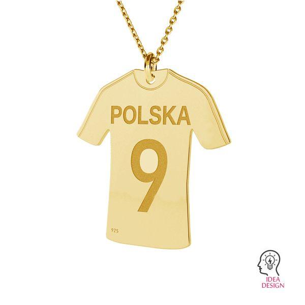 Soccer shirt pendant, sterling silver 925, LK-1322 - 0,50