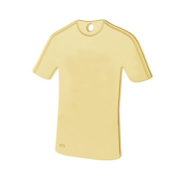 Soccer shirt pendant, sterling silver 925, LK-1325 - 0,50