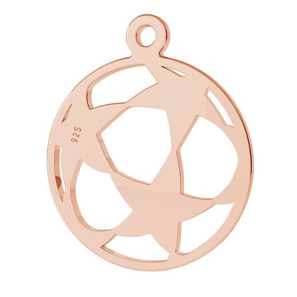 Soccer ball pendant, sterling silver 925, LK-1321 - 0,50
