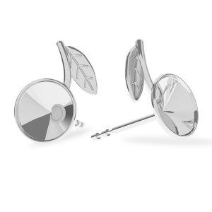 Leaves earring, sterling silver 925, ODL-00345 KLS (L+R)