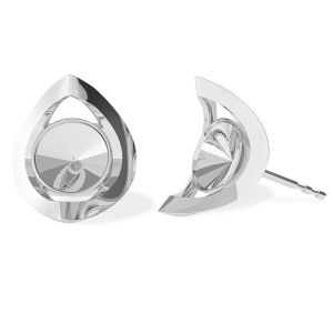 Round earring base Swarovski, sterling silver 925, ODL-00360 KLS (1122 SS 29)