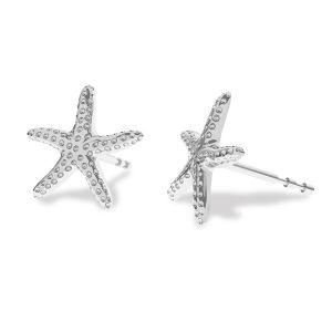 Seastar earring, sterling silver 925, ODL-00354 KLS