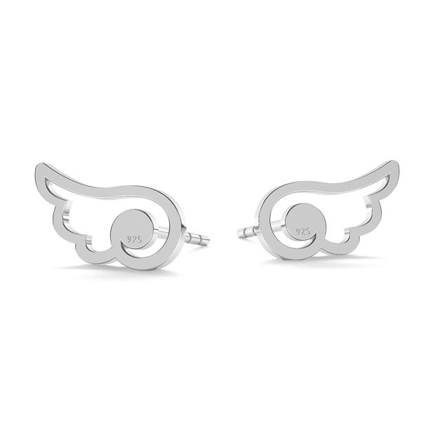 Cat earrings, sterling silver 925, LK-1277 - 0,50 - KLS
