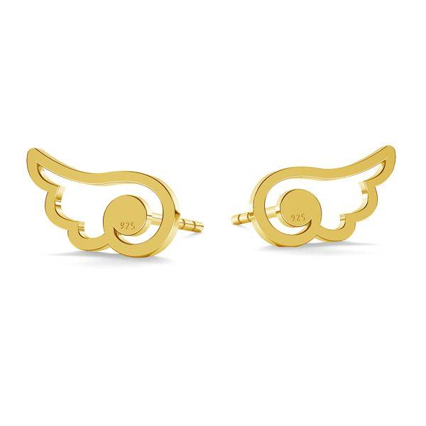 Cat earrings, sterling silver 925, LK-1277 - 0,50 - KLS