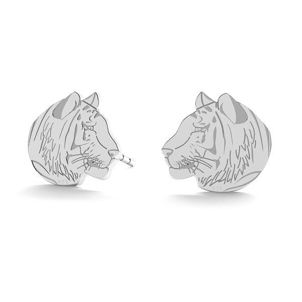 Tiger earrings, sterling silver 925, LK-0892 - 0,50 - KLS