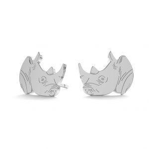 Rhinoceros earrings, sterling silver 925, LK-0893 KLS - 0,50