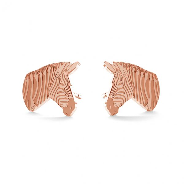 Zebra earrings, sterling silver 925, LK-0894 KLS - 0,50