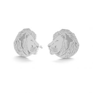 Lion earrings, sterling silver 925, LK-0895 KLS - 0,50