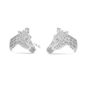 Giraffe earrings, sterling silver 925, LK-0896 KLS - 0,50