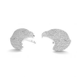 Eagle earrings, sterling silver 925, LK-0903 KLS - 0,50