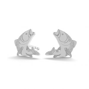 Fish earrings, sterling silver 925, LK-0910 KLS - 0,50