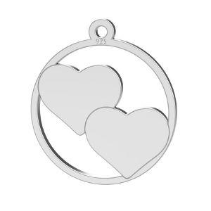 Girl pendant, sterling silver 925, LK-1365 - 0,50
