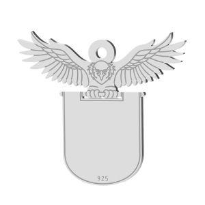 Light bulb pendant, sterling silver 925, LK-1370 - 0,50