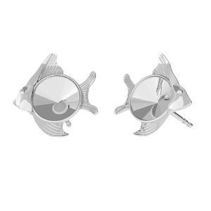 Fish earring base Swarovski, sterling silver 925, ODL-00361 KLS (1122 SS 29)