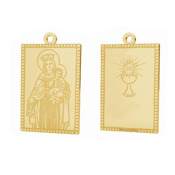 Our Lady gold pendant, AU 585 14K, LKZ-00661 - 0,30