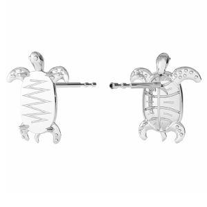 Turtle earrings Swarovski base, sterling silver, ODL-00368 KLS (2602 MM 8,0X 5,5)