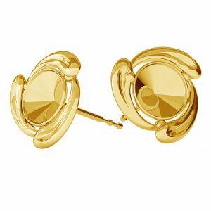 Round earring base Swarovski, sterling silver 925, ODL-00374 KLS (1122 SS 29)