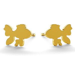 Fish earrings, sterling silver 925, LK-0615 KLS - 0,50
