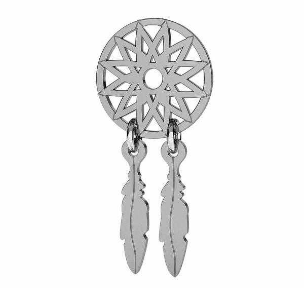 Dreamcatcher pendant, sterling silver 925, LK-1321 - 0,50