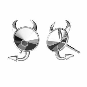 Devil earring base Swarovski, sterling silver 925, ODL-00377 KLS (1122 SS 29)