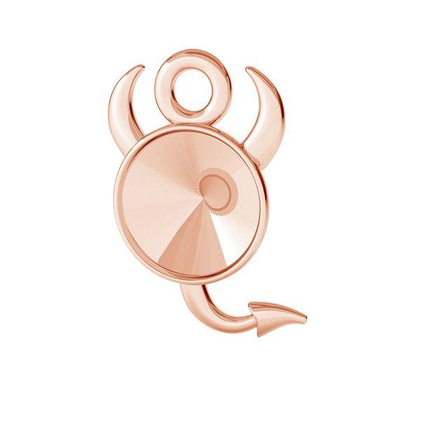 Devil pendant for Swarovski Rivoli 6 mm, sterling silver, ODL-00378 (1122 SS 29)