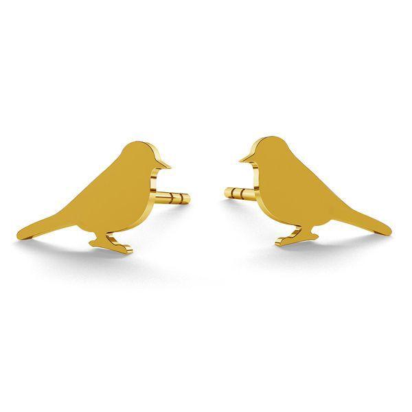 Nightingale earrings, sterling silver 925, LK-0615 KLS - 0,50