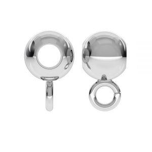 P2L  4,0 F:1,8 (CON 1) - Bead ball button charm, streling silver 925