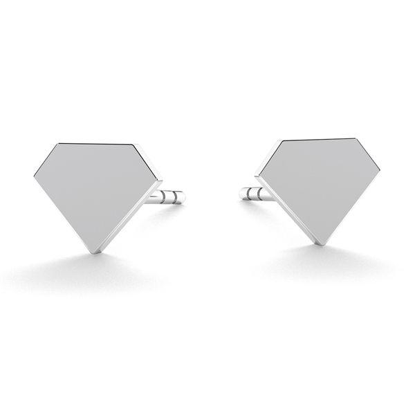 X letter earrings, sterling silver 925, LK-0617 KLS - 0,50