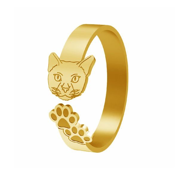 Cat ring, sterling silver 925, LK-1402 - 0,50