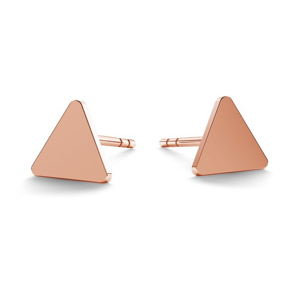 Triangle earrings, sterling silver 925, LK-0617 KLS - 0,50