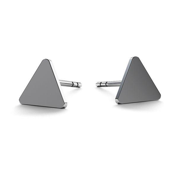 Triangle earrings, sterling silver 925, LK-0617 KLS - 0,50