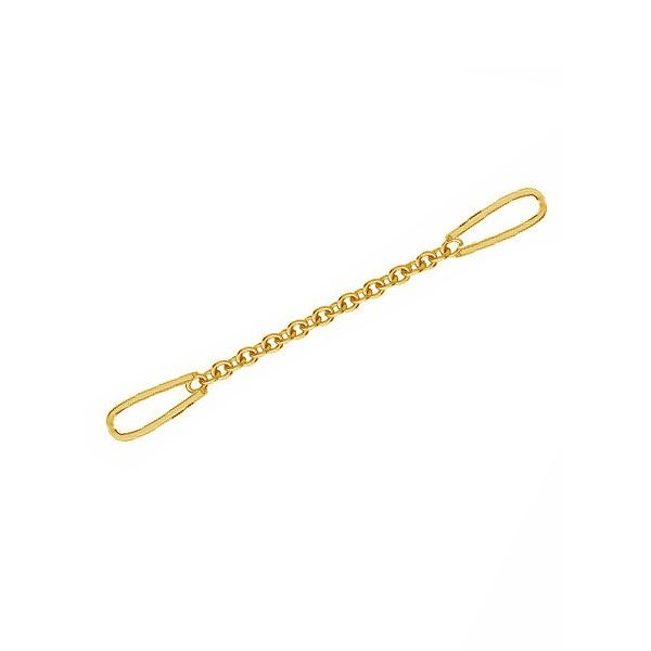 Short chain Anchor, earrings base, A 030 (30 MM) - VER.2