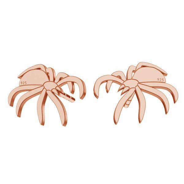 Spider earrings, sterling silver 925, LK-1387 KLS - 0,50