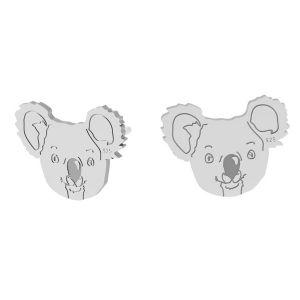 Unicorn earrings, sterling silver 925, LK-1397 KLS - 0,50