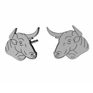 Taurus earrings, sterling silver 925, LK-1401 KLS - 0,50