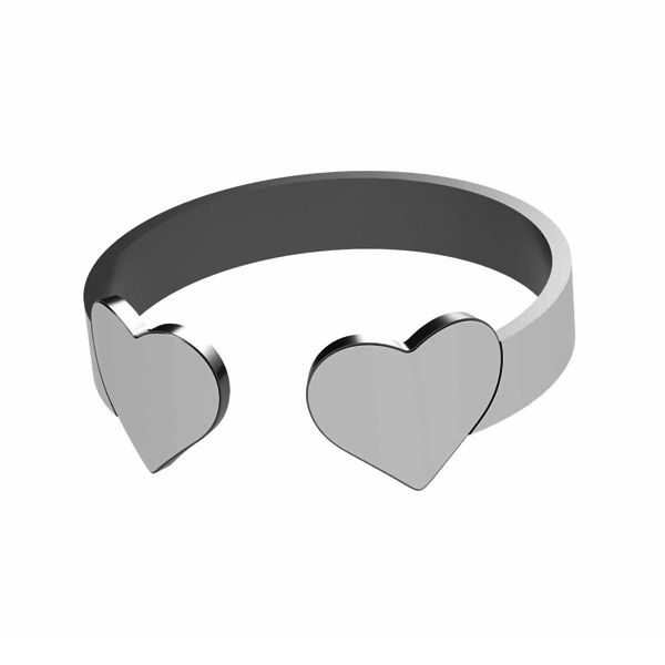 Heart ring, sterling silver 925, LK-1404 - 0,50