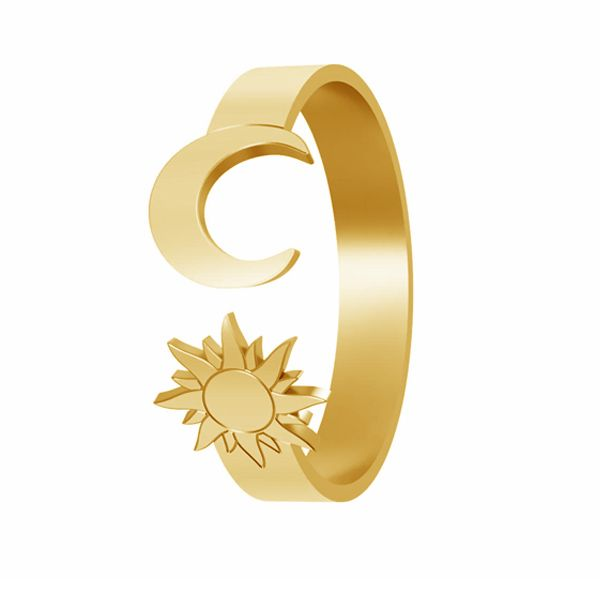 Sun & moon ring, sterling silver 925, LK-1405 - 0,50