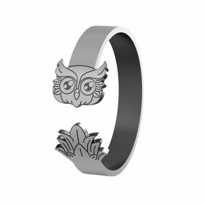 Owl ring, sterling silver 925, LK-1406 - 0,50