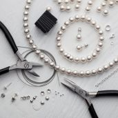 DIY Jewellery Set - Set, silver 925, Swarovski, DIY with SILVEXCRAFT NO.02003