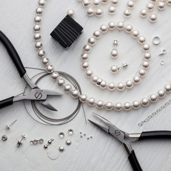 DIY Jewellery Set - Set, silver 925, Swarovski, DIY with SILVEXCRAFT NO.02003