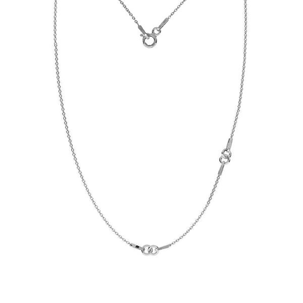 Base for necklaces, sterling silver, A 030, S-CHAIN 24