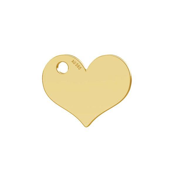 Heart tag pendant gold 14K LKZ-00573 - 0,30