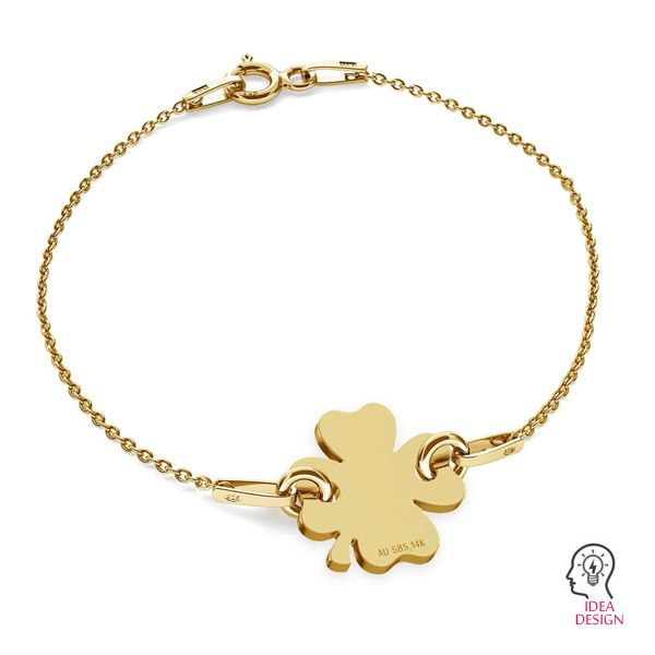 Birds pendant connector gold 14K, LKZ-00943 - 0,30