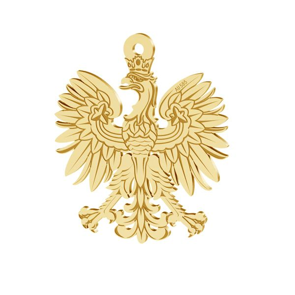 Eagle pendant, gold 14K, LKZ-00471 - 0,30