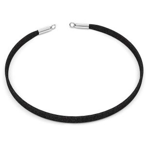 Choker Alcantara necklace base S-CHAIN 25 - 36 cm