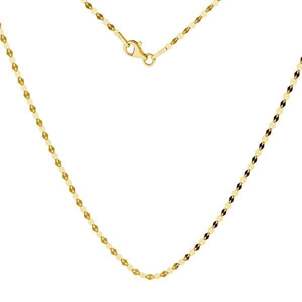 Gold chain coffe 14K, FBL 030 AU 585, 14K - 50 cm