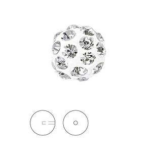 Discoball White 8 mm 1 hole, 86301 MM 8,0 01 001