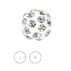 Discoball White 10 mm 1 hole, 86301 MM 10,0 01 001