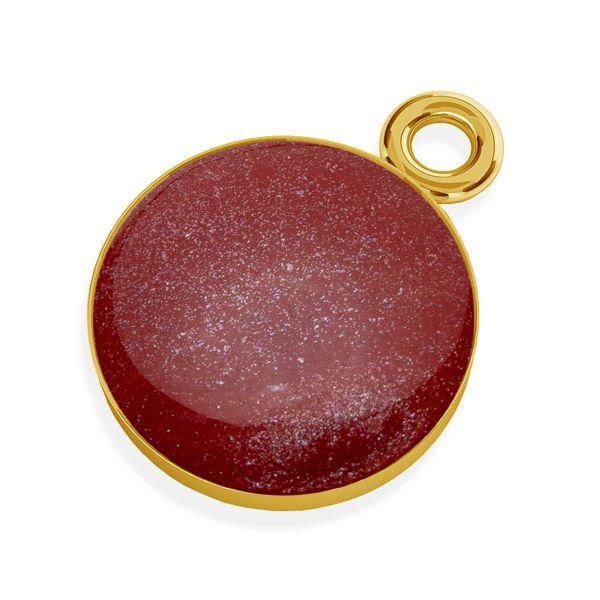 Double ring karma pendant, silver 925, SILVEXCRAFT-PENDANT 003
